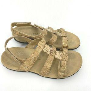 Vionic Sandals Amber Cork Slingback